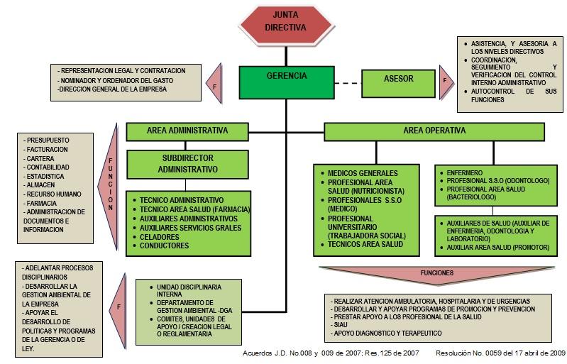 Estructura Organizacional Nuestro Hospital Hospital Ese